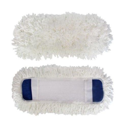 Запаска из микрофибры Kamille 40 х 12 см Белая (KM-0057A) Сменные насадки для швабры